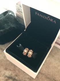 Pandora: PAR de separadores em ouro rosê R$ 410,00